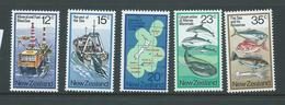 New Zealand 1978 Sea & Ocean Resources Set 5 MNH - Unused Stamps