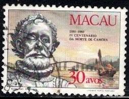 Luis De Camoens, Poet, Macau Stamp SC#448 Used - Macao