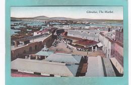 Small Post Card Of The Market,Gibraltar,K76. - Gibraltar