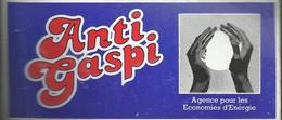 Autocollant - Anti-Gaspi - Agence Pour L'Economies D'Energie - Adesivi