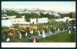 A8 MAROC CPA  TANGER - SOKO EXTERIEUR ET LEGATION ALLEMAND - Morocco