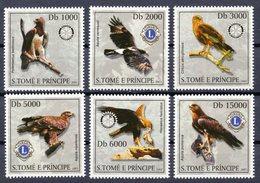 S Tome & Principe 2003 Birds Of Prey. 6v** - Águilas & Aves De Presa