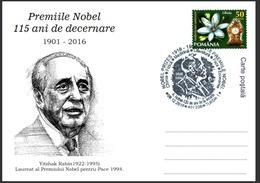 115 Years The Nobel Prize In  Peace 1994 Yitzhak Rabin - Turda 2016 - Premio Nobel