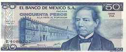 Mexico P67b, 50 Pesos, Juarez / Zapoteca Indian Wind Goddess, 1979 UNC - México