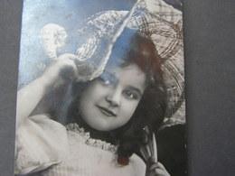 Schönes Mädchen Motiv, Mädchen, Portrait, Fillet, Girl, Child  Aus Herrnhut 1908 Foto AK - Gruppen Von Kindern Und Familien