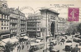 Carte Postale Ancienne De Paris La Porte Saint  Denis - Arrondissement: 10