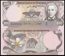 Nicaragua P137, 100 Córdobas, José Dolores Estrada / Nat'l Flower UNC!! $10 CV - Nicaragua