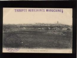Cachet Oblitération Troupes Auxiliaires Marocaines 6e Compagnie En 1913 Sur Carte Meknes ,postes Aux Armées - Maroc (1891-1956)