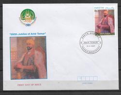 PAKISTAN FDC 1997 660TH JUBILEE OF AMIR TEMUR - Pakistan