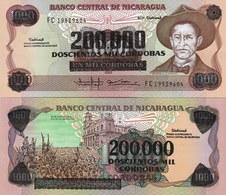 Nicaragua P162, 200,000 Cordobas, General Sandino / Liberation Day, Revalued UNC - Nicaragua