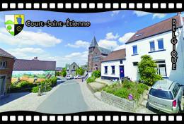 Postcard, REPRODUCTION, Municipalities Of Belgium, Streets Of Court-Saint-Étienne 3 - Cartes Géographiques