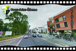 Postcard, REPRODUCTION, Municipalities Of Belgium, Streets Of Court-Saint-Étienne 4 - Cartes Géographiques