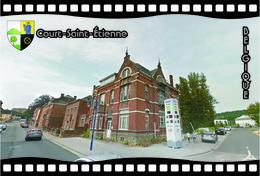 Postcard, REPRODUCTION, Municipalities Of Belgium, Streets Of Court-Saint-Étienne 5 - Cartes Géographiques