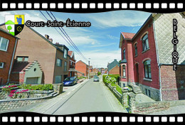 Postcard, REPRODUCTION, Municipalities Of Belgium, Streets Of Court-Saint-Étienne 7 - Cartes Géographiques