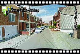 Postcard, REPRODUCTION, Municipalities Of Belgium, Streets Of Court-Saint-Étienne 8 - Cartes Géographiques