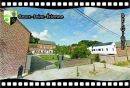 Postcard, REPRODUCTION, Municipalities Of Belgium, Streets Of Court-Saint-Étienne 9 - Cartes Géographiques