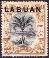 LABUAN 1894 3 Cents Black & Grey-Mauve SG62b FU - North Borneo (...-1963)