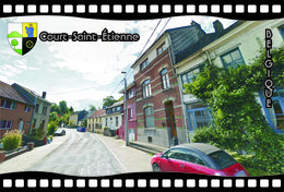 Postcard, REPRODUCTION, Municipalities Of Belgium, Streets Of Court-Saint-Étienne 11 - Cartes Géographiques