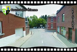 Postcard, REPRODUCTION, Municipalities Of Belgium, Streets Of Court-Saint-Étienne 14 - Cartes Géographiques
