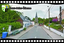 Postcard, REPRODUCTION, Municipalities Of Belgium, Streets Of Court-Saint-Étienne 15 - Cartes Géographiques
