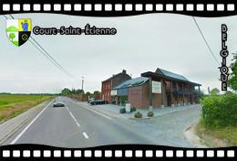 Postcard, REPRODUCTION, Municipalities Of Belgium, Streets Of Court-Saint-Étienne 16 - Cartes Géographiques