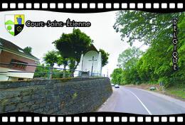 Postcard, REPRODUCTION, Municipalities Of Belgium, Streets Of Court-Saint-Étienne 17 - Cartes Géographiques