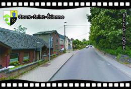 Postcard, REPRODUCTION, Municipalities Of Belgium, Streets Of Court-Saint-Étienne 18 - Cartes Géographiques