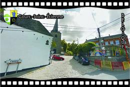 Postcard, REPRODUCTION, Municipalities Of Belgium, Streets Of Court-Saint-Étienne 19 - Cartes Géographiques