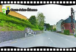Postcard, REPRODUCTION, Municipalities Of Belgium, Streets Of Court-Saint-Étienne 21 - Cartes Géographiques