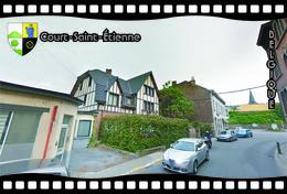 Postcard, REPRODUCTION, Municipalities Of Belgium, Streets Of Court-Saint-Étienne 23 - Cartes Géographiques