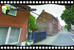 Postcard, REPRODUCTION, Municipalities Of Belgium, Streets Of Court-Saint-Étienne 24 - Cartes Géographiques