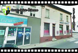 Postcard, REPRODUCTION, Municipalities Of Belgium, Streets Of Court-Saint-Étienne 25 - Cartes Géographiques