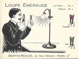 Publicité Bijouterie Bertin-Roché, 30 Rue Drouot Paris - Loupe Emeraude - Publicités