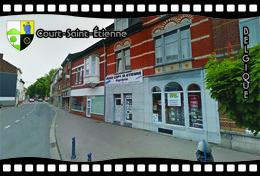Postcard, REPRODUCTION, Municipalities Of Belgium, Streets Of Court-Saint-Étienne 26 - Cartes Géographiques