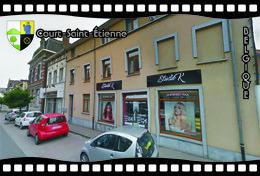 Postcard, REPRODUCTION, Municipalities Of Belgium, Streets Of Court-Saint-Étienne 27 - Cartes Géographiques