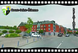 Postcard, REPRODUCTION, Municipalities Of Belgium, Streets Of Court-Saint-Étienne 28 - Cartes Géographiques