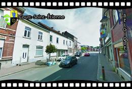 Postcard, REPRODUCTION, Municipalities Of Belgium, Streets Of Court-Saint-Étienne 29 - Cartes Géographiques