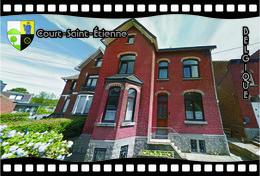 Postcard, REPRODUCTION, Municipalities Of Belgium, Streets Of Court-Saint-Étienne 30 - Cartes Géographiques