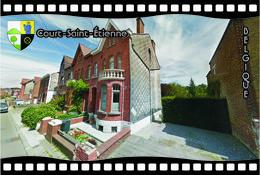 Postcard, REPRODUCTION, Municipalities Of Belgium, Streets Of Court-Saint-Étienne 31 - Cartes Géographiques