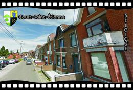 Postcard, REPRODUCTION, Municipalities Of Belgium, Streets Of Court-Saint-Étienne 32 - Cartes Géographiques