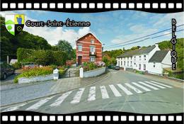 Postcard, REPRODUCTION, Municipalities Of Belgium, Streets Of Court-Saint-Étienne 33 - Cartes Géographiques