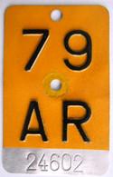 Velonummer Mofanummer Appenzell Ausserrhoden AR 79 - Plaques D'immatriculation