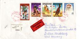 27.9.88; Expres-Recommander Tripoli - Heidelberg, Divers Timbres, Selon Scan;; Lot 51186 - Libye