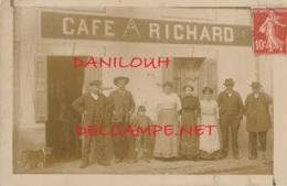 43 // BEAUZAC   CARTE PHOTO    CAFE RICHARD / ANIMEE - Frankreich