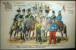 UNIFORMES 5° REGIMENT DE CHASSEURS CHASSEURS DU HAINAUT 1788/ 1914 - Reggimenti