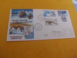 BELLE ENVELOPPE ...EXPEDITION PROJECT BLIZZARD 1985-1986 - Lettres & Documents
