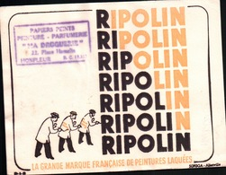 "Ancien BUVARD Illustré RIPOLIN , Tampon "" MA DROGUERIE "" à HONFLEUR - Bambini"