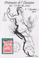 Carte  Maximum  FRANCE   Centenaire   Emission  Du  Type  BLANC     FLEURY  LES AUBRAIS   2000 - Storia Postale