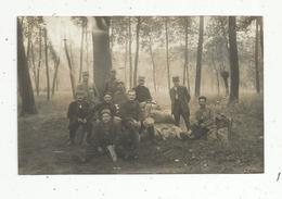 Cp , Carte Photo , MILITARIA ,militaires Dans La Forêt,vierge - Personaggi