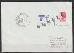 YT 2376 L 2,20F Rouge Liberté Sur Lettre Postée De L'étranger Et Taxée Du 11.10.89 - 1982-90 Liberty Of Gandon